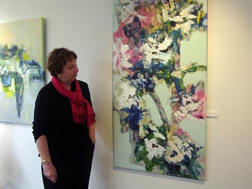 Mariken Bollen bij expositie in Gezondheidscentrum Malden
